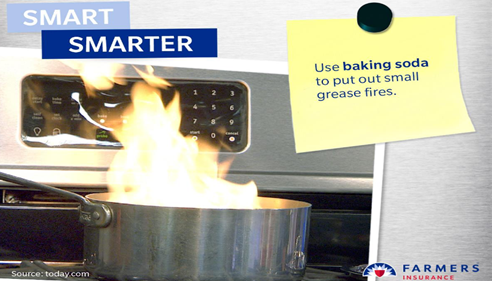 Fire Safety- Always Keep A Fire Extinguisher In The Kitchen And Baking Soda.
