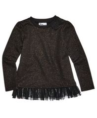 Image of Epic Threads Glitter Dot Long-Sleeve T-Shirt, Little Girls, Created for Macy's