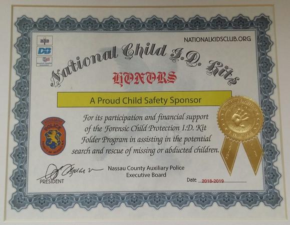 National Child ID Kits Sponsor