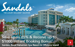 Save up to 65% & Receive up to $1000 Instant Booking Bonus*