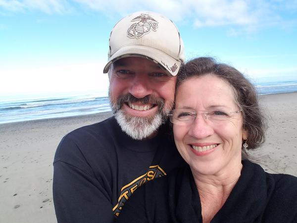 At the Oregon Coast with my wonderful wife