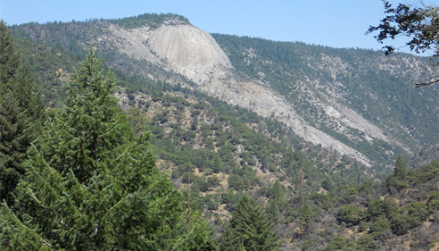 The back side of Bald Rock, seen from the Feather Falls trail.