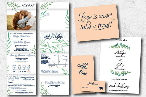 Assorted wedding printed materials