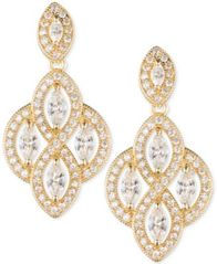 Image of Anne Klein Marquise Crystal Drop Earrings