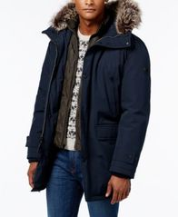 Image of Michael Kors Men's Hooded Bib Snorkel Parka, Created for Macy's