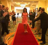 Walking the  red carpet at Allstate Honor Ring