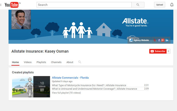 Kasey Osman - Check out our YouTube Channel!