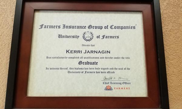 Kerri's University of Farmers® Graduate Diploma