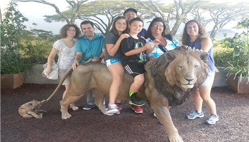 My family at the San Diego Zoo