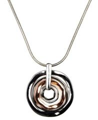 Image of Nine West Necklace, Tri Tone Orbital Pendant