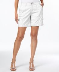 Image of Style & Co Comfort-Waist Cargo Shorts, Created for Macy's