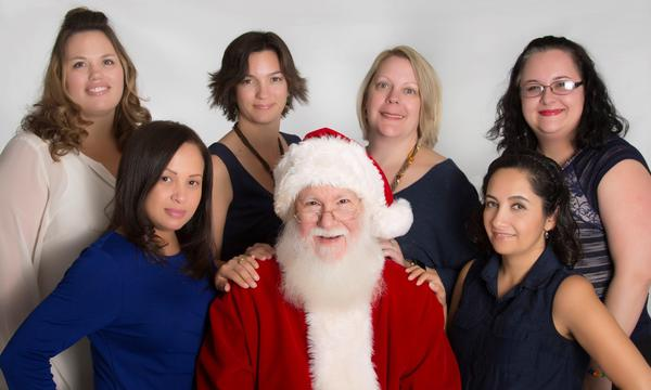 Sally Mercer Agency staff (and Santa!)