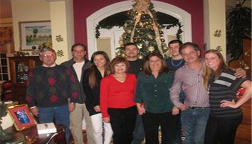 Xmas 2012 with Mom & brothers & husband & neice & nephew and son & stepsister