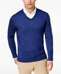 Image of Club Room Men's Merino Performance V-Neck Sweater, Created for Macy's