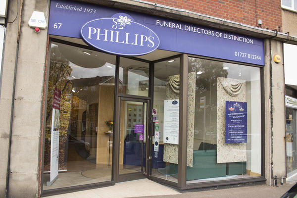 Phillips Funeral Directors in Marshalswick, Hertfordshire.