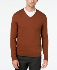 Image of Alfani Men's Tipped V-Neck Sweater, Created for Macy's