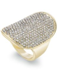 Image of INC International Concepts Gold-Tone Pavé Statement Ring, Created for Macy's