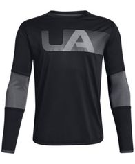 Image of Under Armour Big Boys Tech Logo Graphic T-Shirt