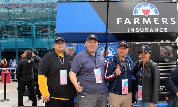 Our team in front Farmers Pit on Las Vegas Speedway