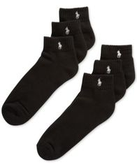 Image of Polo Ralph Lauren Classic Quarter Socks 6 Pairs