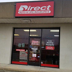 Front of Direct Auto store at 316-C North Davis Avenue, Cleveland