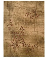 "Image of CLOSEOUT! Nourison Area Rug, Somerset Collection ST74 Latte Blossom 5'6"" x 7'5"""