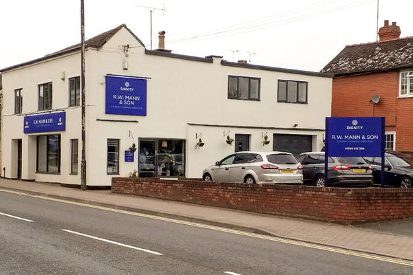 R. W. Mann & Son Funeral Directors in Leominster, Hertfordshire.