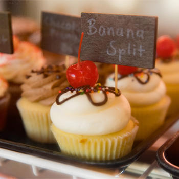 Image of Banana Split Cupcake