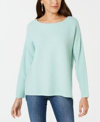 Image of Style & Co Ribbed Boatneck Sweater, Created for Macy's
