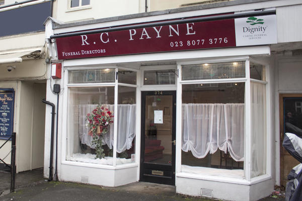 R C Payne & Son Funeral Directors in Shirley, Southampton