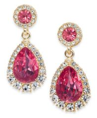 Image of Charter Club Crystal & Stone Drop Earrings, Created for Macy's