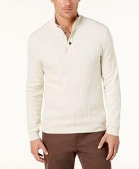 Image of Tasso Elba Men's Mock Neck Sweater, Created for Macy's