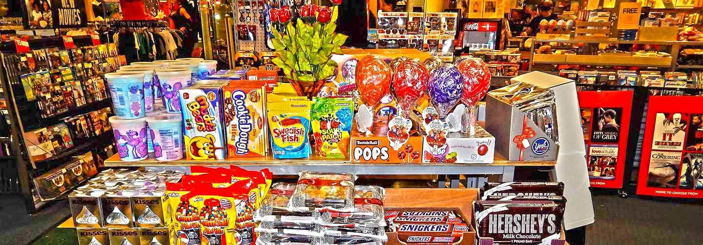 Navigate to image of FYE candy presentation