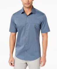 Image of Alfani Men's STRETCH Modern Stripe Pocket Shirt, Created for Macy's