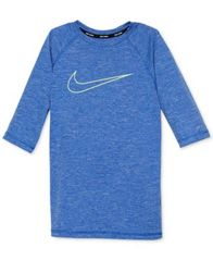 Image of Nike Heathered Hydro Guard Rash Guard Swim Top, Big Boys