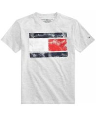 Image of Tommy Hilfiger Tommy Flag Graphic-Print T-Shirt, Big Boys