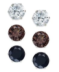 Image of Thalia Sodi Stone Stud Earring Trio, Created for Macy's