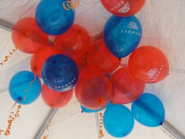 Free Balloons for the Children at an outdoor festival.
