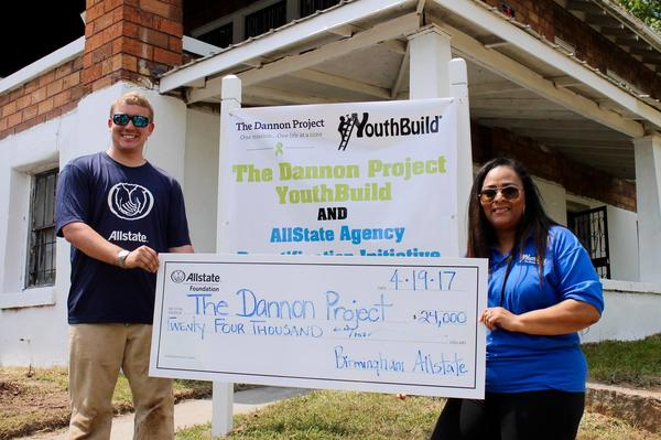 Samuel Huguley - Allstate Foundation Helping Hands Grant Helps The Dannon Project