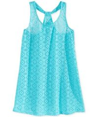 Image of Breaking Waves Crochet Cover-Up, Little Girls (2T-6X) & Big Girls (7-16)