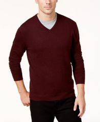 Image of Alfani Men's V-Neck Sweater, Created for Macy's