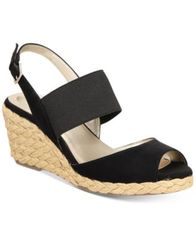 Image of Bandolino Himeka Espadrille Wedge Sandals, Created for Macy's