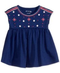 Image of First Impressions Dolman-Sleeve Cotton Babydoll Tunic, Baby Girls (0-24 months), Created for Macy's