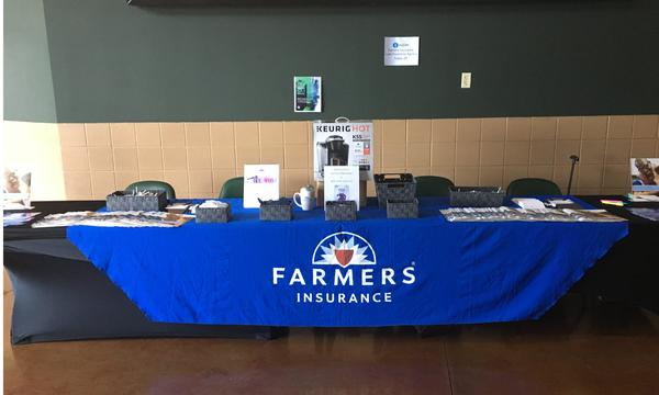 Farmers booth at event