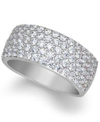 Image of Arabella Sterling Silver Ring, Swarovski Zirconia Pave Band