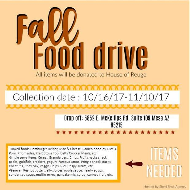 Sheri Shull - Food Drive for the House of Refuge