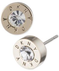 Image of DKNY Logo Crystal Ring Stud Earrings, Created for Macy's