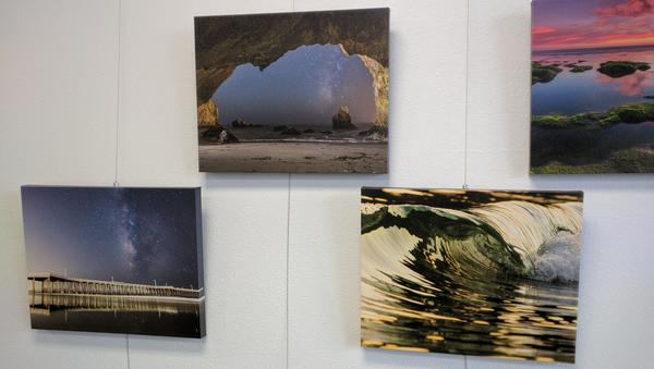 Display of photographs from Brady Cabe
