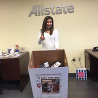 Geetu-Mistry-Allstate-Insurance-Gap-PA-Toys-For-Tots-box