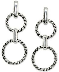 Image of Giani Bernini Rope Circle Drop Earrings in Sterling Silver, Created for Macy's